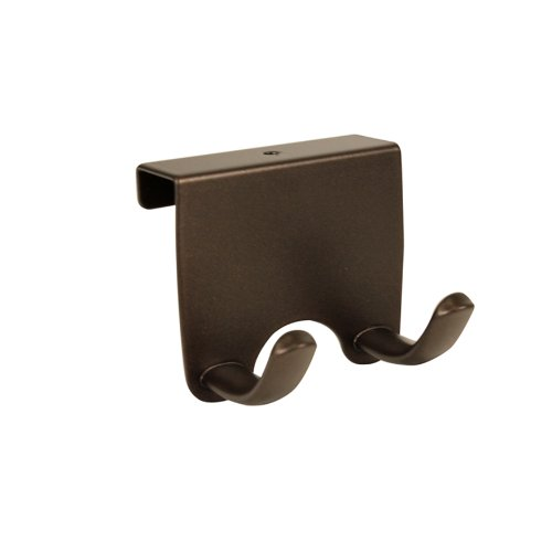 InterDesign Axis Over-the-Cabinet Double Hook, Bronze
