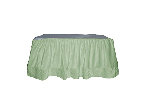 Baby Doll Heavenly Soft Crib Dust Ruffle, Sage - 1