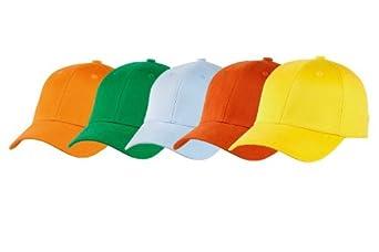 Lot de 5 casquettes Prestige Adulte taille L couleurs claires (Lot n°5)