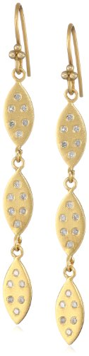 Lauren Harper Collection Mirage 18k Gold and Diamond 3-Tiered Marquis Earrings
