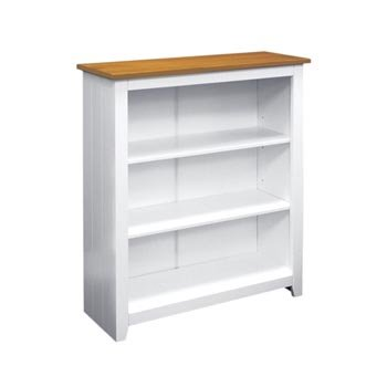 Capri White  &  Pine Small Bookcase