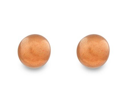 Classic Hazelnut Color 8mm Pearl Stud Earrings on Gold - Light Brown Jewelry- Pierced Post