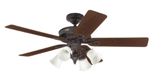 Order today hunter 20347 westbury 4 light 54 inch 5 walnutmedium hunter 20347 westbury 4 light 54 inch 5 walnutmedium oak blades ceiling mozeypictures Gallery