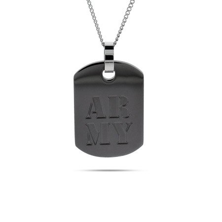 US Army Military Dog Tag Length 24 inches (Lengths 18 inches 20 inches 24 inches Available)