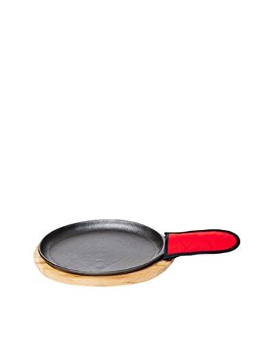 Old Mountain Fajita Plate Set, Black/Red