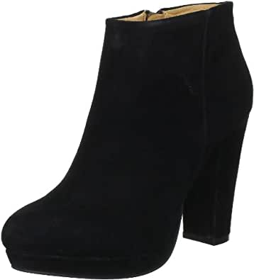 Buffalo London 410-10645 KID SUEDE, Damen Kurzschaft Stiefel, Schwarz (BLACK 01), 37 EU