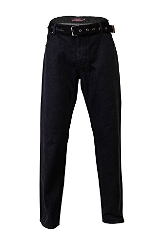 pierre-cardin-mens-new-season-regular-fit-belted-jeans-38-s-solid-black