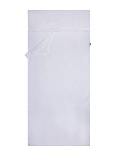 Emins Outdoor Sleeping Bag Liner Single Compact Natural Silk Sleepsack Rectangle Sheet Liner, 8335IN, White (Sleeping Bag Liner Insulated compare prices)