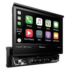 Pioneer AVH-3300NEX 7 Flip Out DVD Receiver with CarPlay, Android Auto and Bluetooth (Color: black)