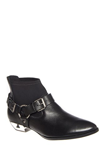 Jacques Low Heel Pointed Toe Bootie