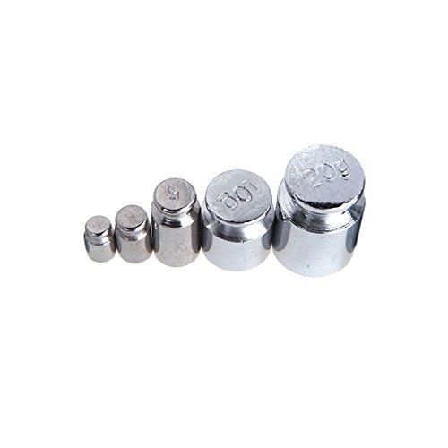 KKmoon Poids 1g 2g 5g 10g 20g chromage pour calibrer gramme de poids de l'échelle définie pour l'équilibre de balance numérique