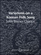 Variations on a Korean Folk Song - Score & Parts - Concert Band From Boosey & Hawkes