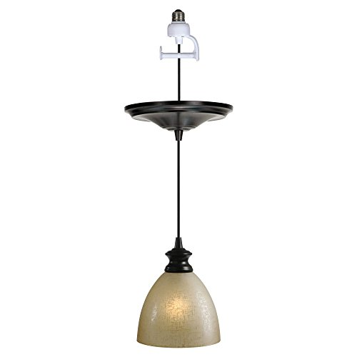 Pendant lighting linen shade : Review worth home products instant screw in
