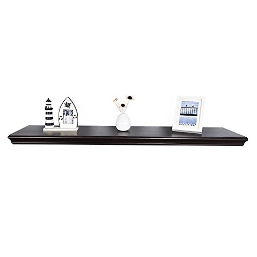 WELLAND Trenton Wall Shelf, 48-Inch, Espresso