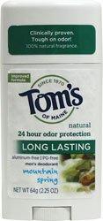 Tom's of Maine Long Lasting Deodorant Stick-Mountain Spring-2.25 oz