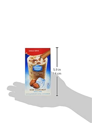 Maxwell House International Coffee Hazelnut Iced Latte Singles, 6 Count, 3.42-Ounce Boxes (Pack of 8) from Maxwell House
