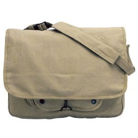 Vintage Paratrooper Bag, Pre-washed Khaki