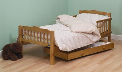 Saplings Pine Junior / Toddler Bed Antique Finish with Foam Mattress