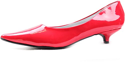 """Women'S Qupid Quisa-01 Red 1.25"""" Fashion Pumps Shoes, Red, 5.5"""
