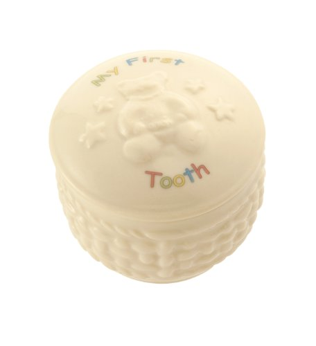 Belleek 4154 My First Tooth Box, 2 by 2-Inch, White