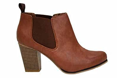 damen hellbraune chelsea boots mit absatz uk8 eu41 schuhe. Black Bedroom Furniture Sets. Home Design Ideas