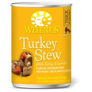 Wellness Natural Pet Food Grain Free Wet Canned Dog Food, Turkey Stew, 12.5 oz (Prime Pantry Canned Meat compare prices)