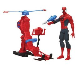 "Hasbro Marvel - Spider-man 30 Cm + Hélicopter (heroes 5010994776695) ""a 30 Cm Spider-man Action Figure With A Helicopter! Doll Has Moving Parts.... Picture"