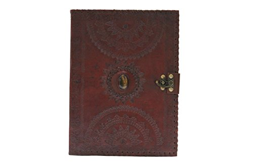 blf vintage handmade embossed leather portfolio resume pad