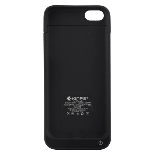 Kinps For Apple Iphone5 External Rechargeable Spare Backup Extended Battery Charger Pack Case Cover