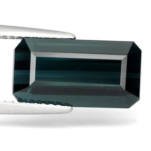 Gems Royal 5.99 Ct. Emerald Cut Vvs Natural Indicolite Tourmaline : 14.43 x 7.61 x 5.88 mm.