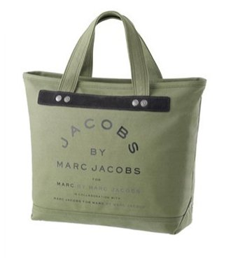 Marc By Marc Jacobs Marc By Marc Jacobs Small Canvas Jacobs Tote Army Green