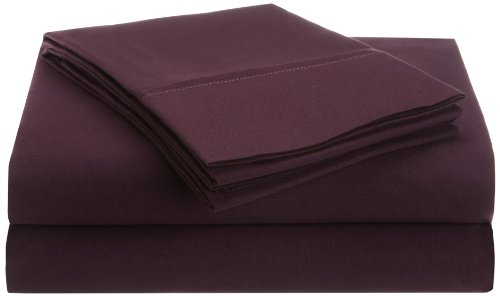Impressions 1500 Series Wrinkle Resistant Twin Xl 3-Pc Sheet Set Solid, Plum front-178062
