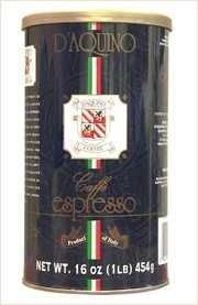 D'Aquino Caffe Italian Coffee Espresso 1Lb (Pack Of 1)