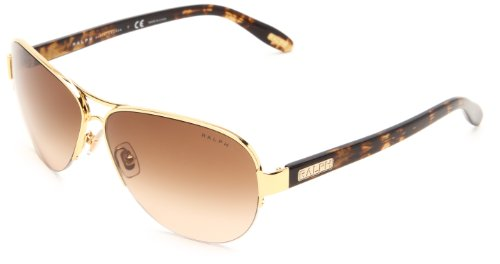 Ralph by Ralph Lauren 0RA4095 106/13 Aviator Sunglasses,Gold Tortoise,58 mm