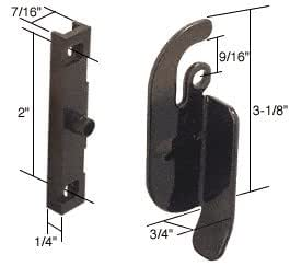 "Right Hand Sliding Window Latch; 2"" Screw Holes for Likit Windows"