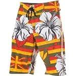 Billabong Men's Platinum Red Swim Wear Boardshorts-Rasta/White-38