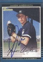 Jason Anderson Staten Island Yankees - Yankees Affiliate 2002 Bowman Autographed Hand... by Hall of Fame Memorabilia