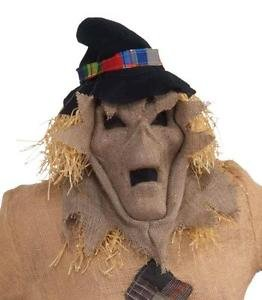 [Burlap Evil Skull Scarecrow Hooded Mask Scare Crow Halloween Costume Accessory] (Donald Duck Costume Makeup)