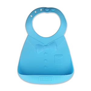 make my day Silicone Baby Bib, Blue