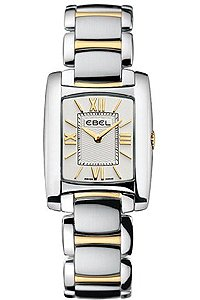 Ebel Watches- Ebel Brasillia Two Tone Steel and 18K Gold Silver Dial Women's Watch