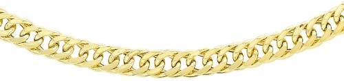 Carissima Gold 9 ct Yellow Gold Triple Curb Chain of 46 cm/18-inch