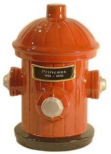 Fire Hydrant Memorial Pet Urn