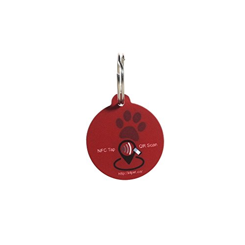 PetTouchID-Smart-Cat-ID-Tag-Red-Built-in-QR-Code-NFC-Cloud-Pet-Profile-GPS-Enabled