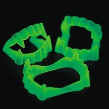 Fun Express - Glow-in-the-Dark Vampire Fangs, 6 Dozen