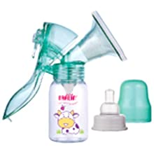 Farlin Manual Plastic Breast Pump With Bottle (Green)