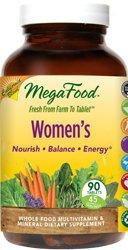 "MegaFood Women""s California Blend Whole Food Multivitamin & Mineral Vegetarian Suitable Not Certifie"