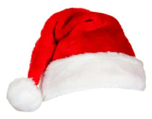"""Traditional Classic 17"""" Plush Red Father Christmas Santa Head Cover with White Furry Trim"""