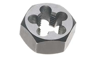 8mm x 1.0 Carbon Steel Hex Rethreading Die