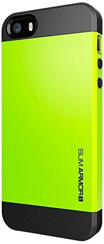 国内正規品SPIGEN SGP iPhone5/5S ケース スリムアーマーS [ライム] SGP10367
