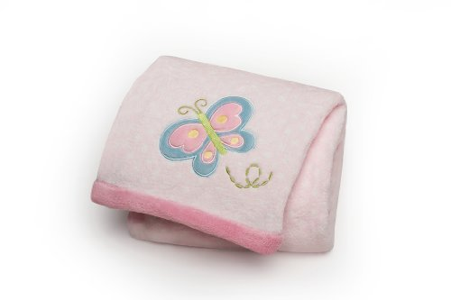 Carter's Easy Printed Embroidered Boa Blanket, Butterfly (Discontinued by Manufacturer) - 1